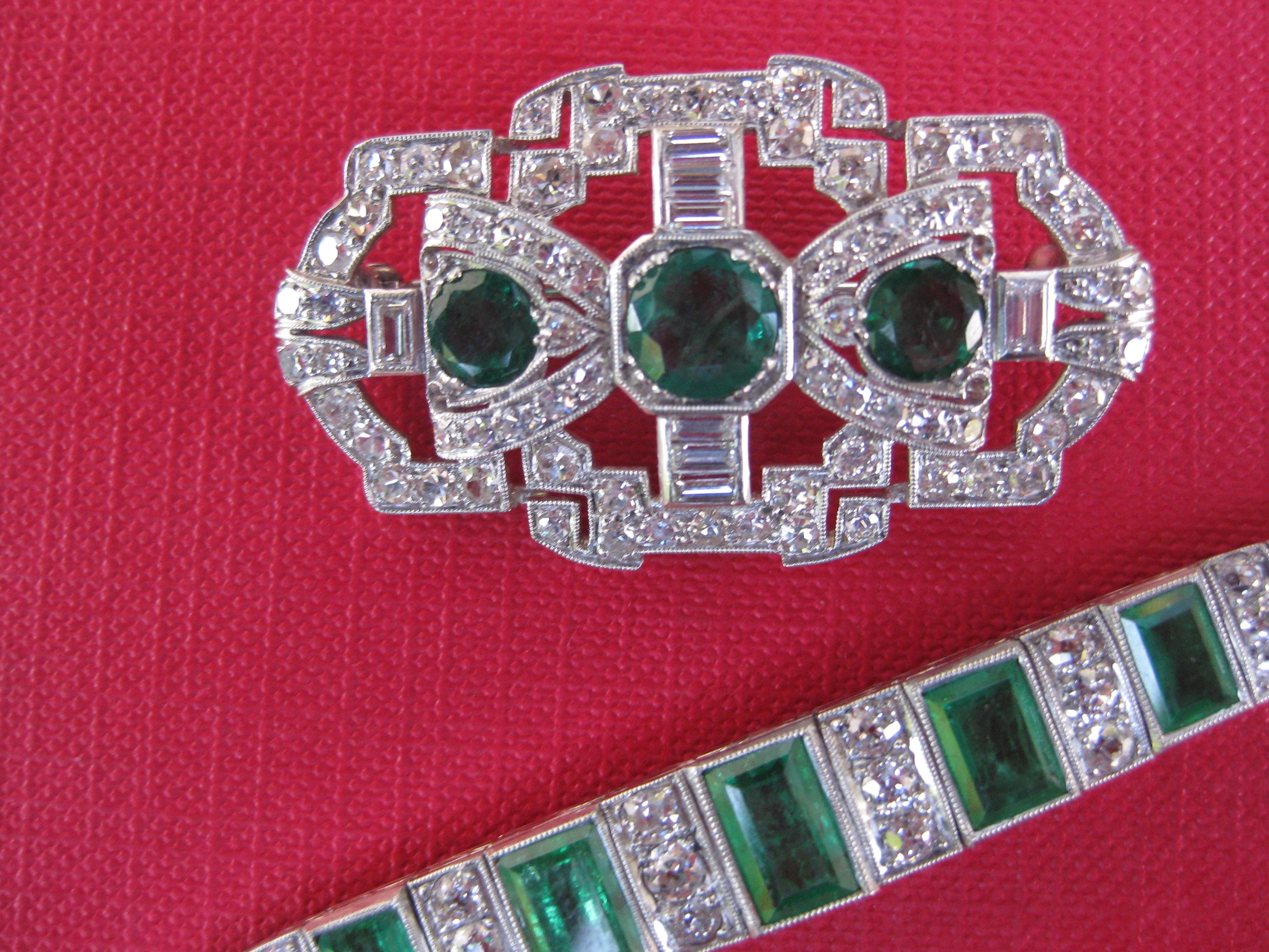 Art deco brosche armband linckersdorff for Art deco online shop
